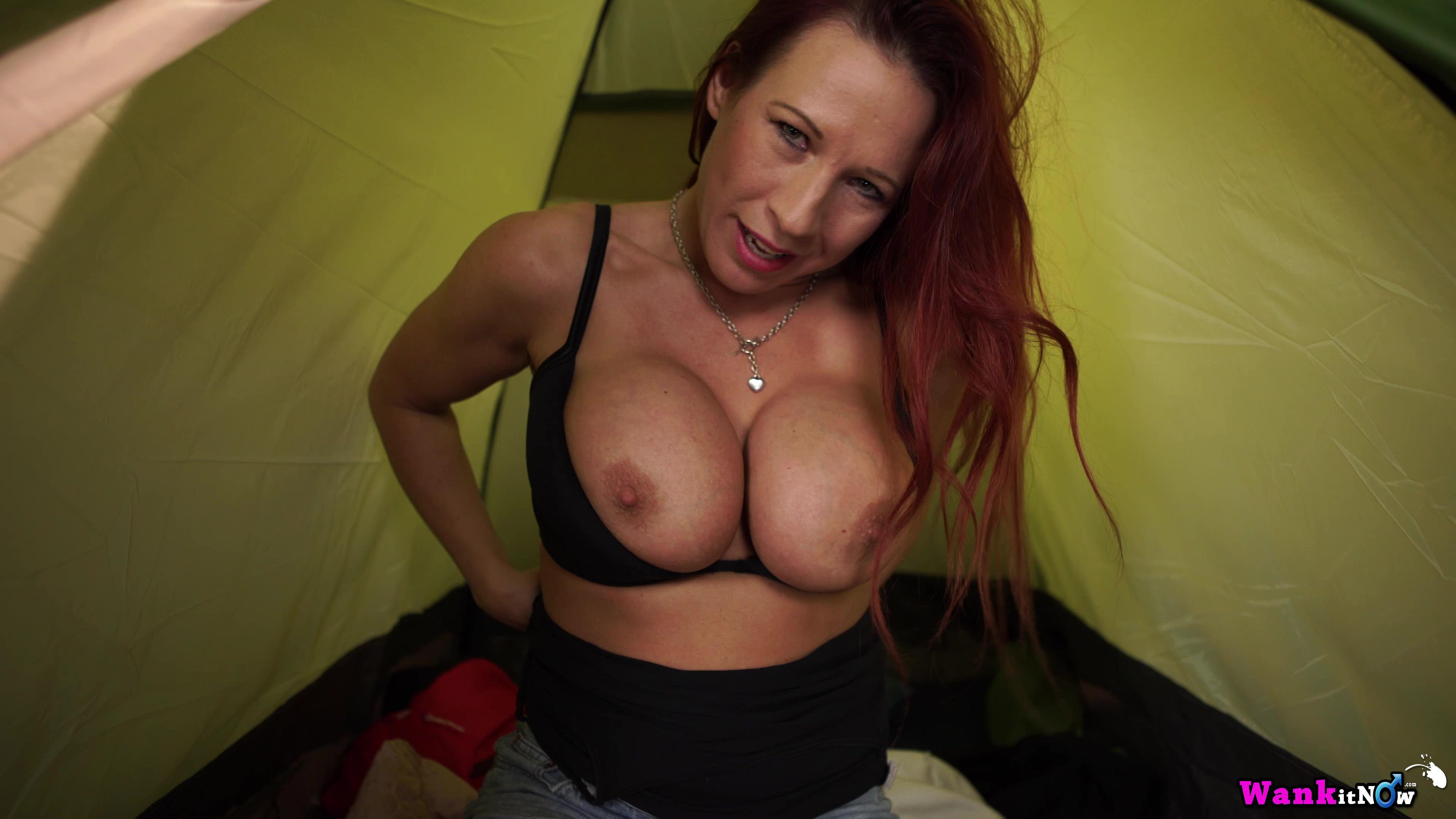 hot mom camping nude